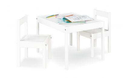 Pinolino Børnebord og Stolesæt, Sina/Hvid