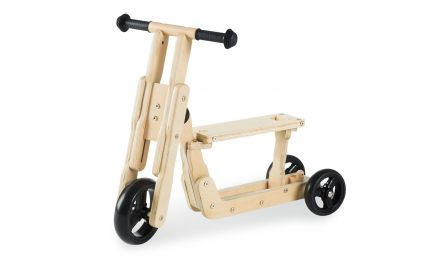 Pinolino Kombi Løbehjul Trehjulet- og Løbecykel, Theo/Natur