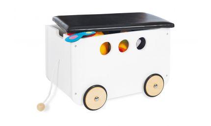 Pinolino Opbevaringsbænk med hjul, Jim/Hvid