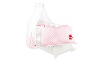 Pinolino Tekstil Udstyr til Babyseng 4 dele, Glückspilz, Rosa