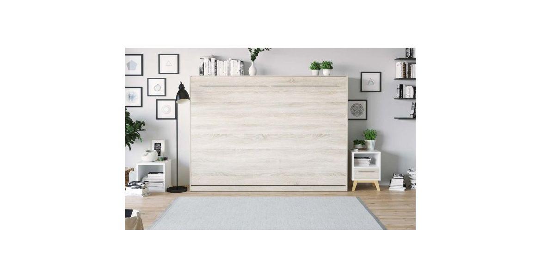 PREMIUM STYLE SKABS-SENG 140X200. VANDRET-SONOMA/HVID