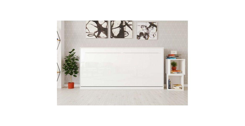 PREMIUM STYLE SKABS-SENG 90X200. VANDRET- HVID/HVID BLANK