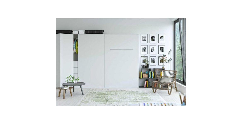 Premium Style Skabsseng 120x200. Lodret- Hvid
