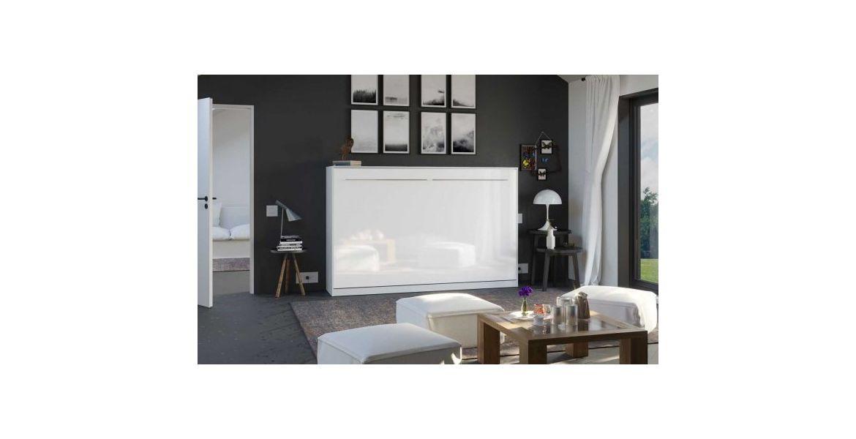 PREMIUM STYLE SKABS-SENG 120X200. VANDRET- HVID/BLANK HVID