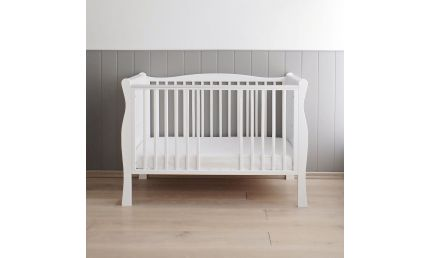 Woodies NOBLE BED WHITE - 2 i 1 tremmeseng